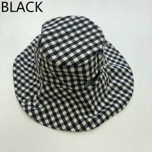 Men Women Fashion Bucket Hat Fisherman Cap Outdoor Wide Brim Sun Hat-Diagonal Plaid Checked and Striped Tile-One Size