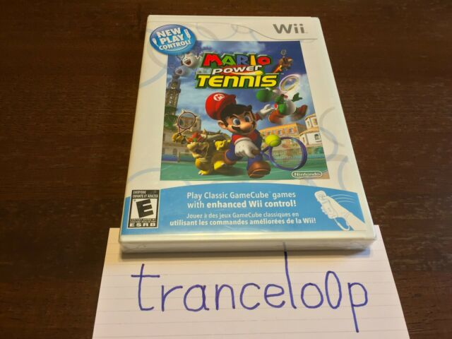 Mario Power Tennis New Play Control Nintendo Wii NEW Factory Sealed