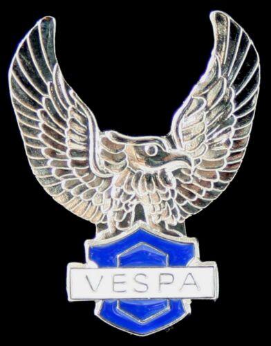 "SCOOTER /""VESPA CUT OUT EAGLE/"" BLUE ENAMEL PIN BADGE"