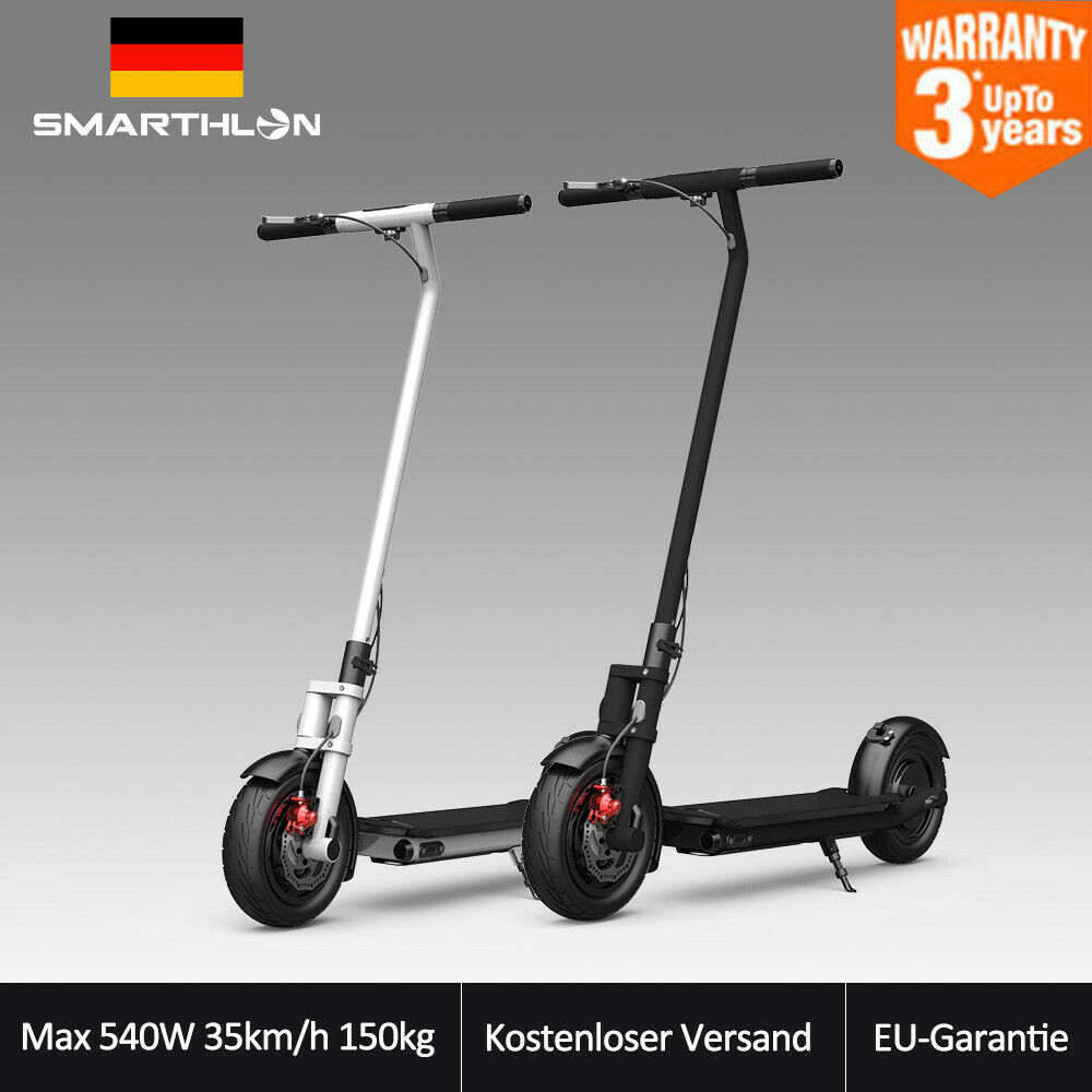 10   Max 540w 35km 150kg Électrique Coup de Pied Trotinette Ville Scooter
