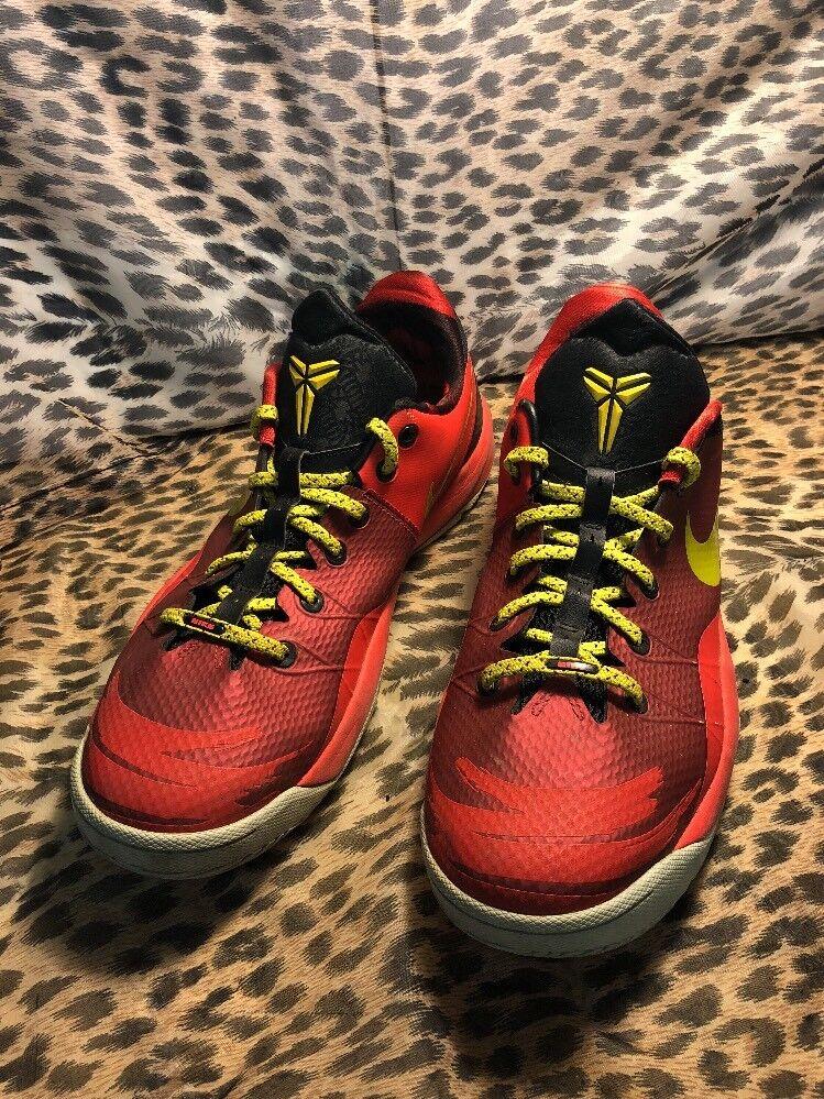 Mens 12 46 Nike Kobe YOTH Venomenon 4 Varisty Red Yellow Black 635578-600 Shoes