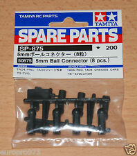 Tamiya 50875 5mm Ball Connector (8 Pcs.) (TA05/TB02/TB03/FF03/DB01/DF03), NIP