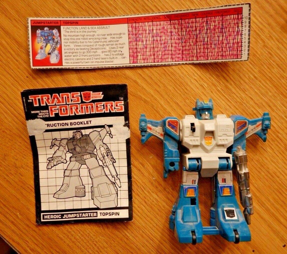 Transformers G1 1984 TOPSPIN TM jumperstarter loose figure hasbro takara