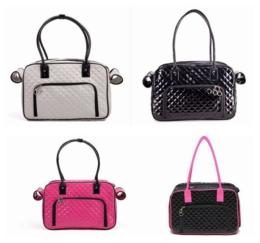 PU Leather Dog Cat Carrier Tote Portable Travel Bag Handbag Pet Supplies