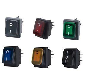 Beleuchtet-Wippschalter-Spritzwassergeschutzt-IP65-Kippschalter-Rocker-Switch