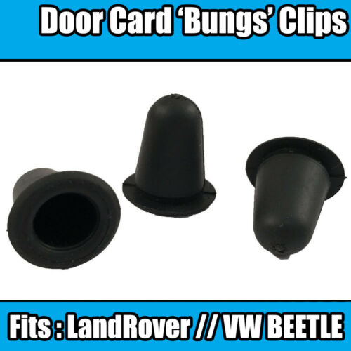 10x Bungs For LANDROVER VW BEETLE Door Card Panel Grommet Black Rubber Clips