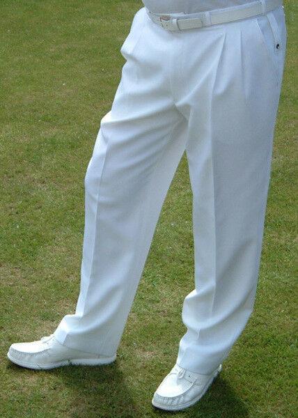 BNWT Henselite White Bowls Trousers for Men
