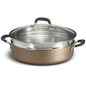 Tramontina 3 Pc 5 5 Quart Nonstick Pan Fryer Steamer