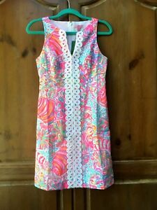 0df26cf33220ab Lilly Pulitzer NWT $198 Ryder Shift Lace Front Dress Multi Swish ...