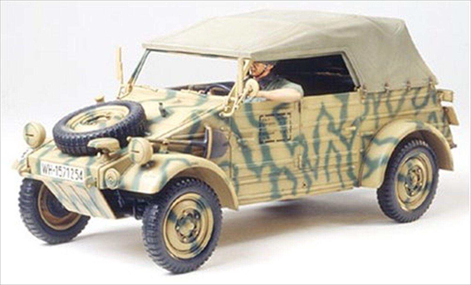 Tamiya 1 16 German Kubelwagen Type 82 European Campaign Kit F S JAPAN NEW
