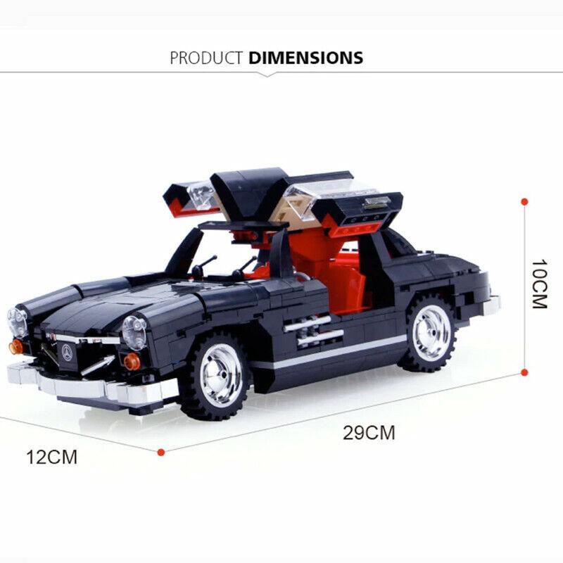 MERCEDES 300 SL Ali di Gabbiano  COMPATIBILE AUTO RACERS TECHNIC auto modello SET MOC  confortevole