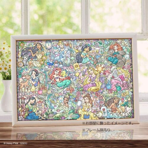 TENYO Disney Princess Collection Stained Glass 1000 Piece Jigsaw Puzzle NEW JP