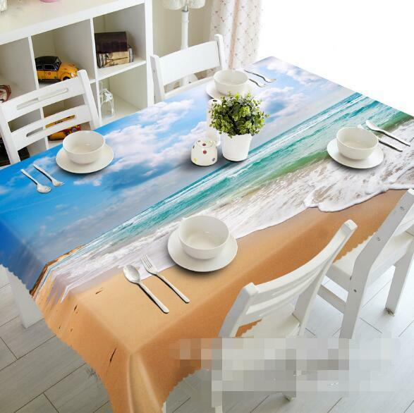 3D Sky Beach 5 Tablecloth Table Cover Cloth Birthday Party Event AJ WALLPAPER AU