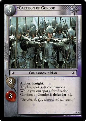 LoTR TCG Siege of Gondor Garrison Of Gondor 8R36