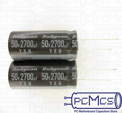 20 Pcs Rubycon YXH series 25V 100UF 105c High Ripple Current Long Life Capacitor
