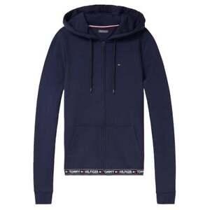 Tommy-Hilfiger-De-Mujer-Blazer-Con-Capucha-Azul-Marino-HWK-Loungewear-cremallera-superior