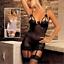 Women-Sexy-Sissy-Lingerie-Nightwear-Sleepwear-Thong-Suspenders-Sets-UK-Seller thumbnail 1