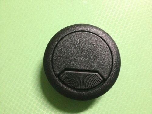 "70mm 2-3//4/"" Deluxe Plastic Computer Desk Cable Grommet Hole Cover Black"