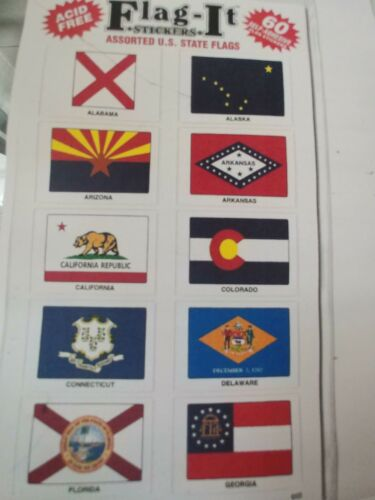 NEW WORLD STATE COUNTRY FLAG PAPER BUMPER STICKER SELF ADHESIVE DECAL