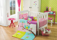 Baby Girls Beautiful Owl Magical Dreams Crib Bedding Set 6 Pc