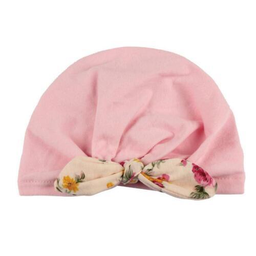 Baby Toddler Girls Kids Bunny Rabbit Ear Bow Knot Turban Headwrap Hat Warm LC