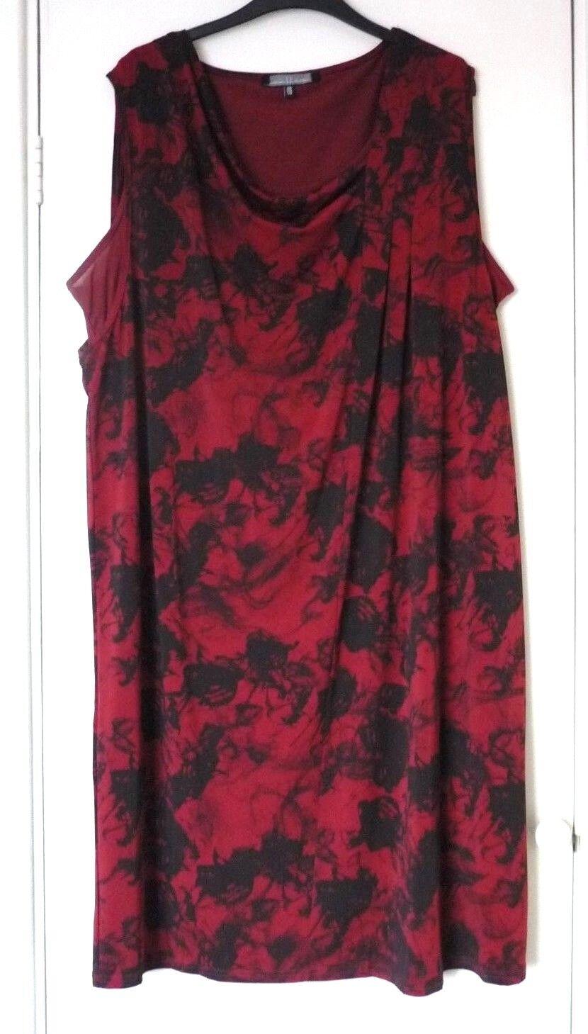MELLEM ( RRP) Size 22-24 Double Layered Asymmetrical Sleeveless Dress - BNWT