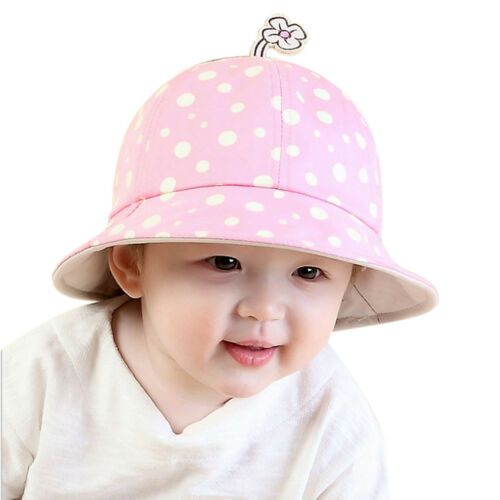 Summer Sun Hats Toddler Infant Baby Girls Wide Brim Beach Bucket Hat Caps