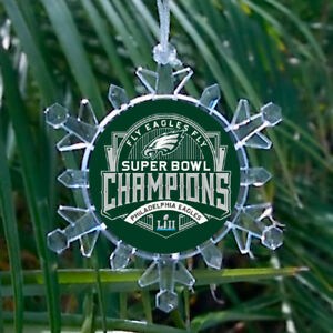 Philadelphia Eagles Super Bowl Snowflake lit Holiday ...