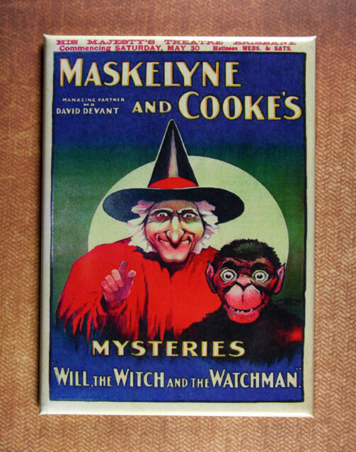 Will, the Witch and the Watcher Magnet - c1920 Maskelyne and Cooke Magical Play