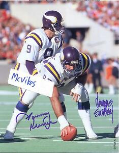 Image is loading Tommy-Kramer-Dennis-Swilley-Minnesota-Vikings-Autographed- Signed- 58069d639