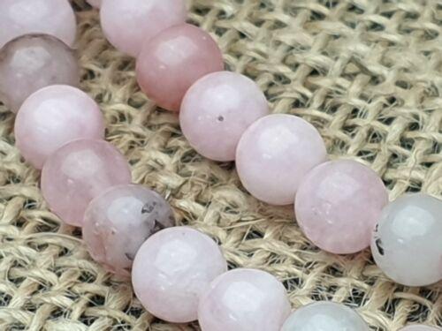 Strang Edelstein Perlen Cherry rosa Jasper Jaspis rund 63 Stck 6 mm DIY Schmuck