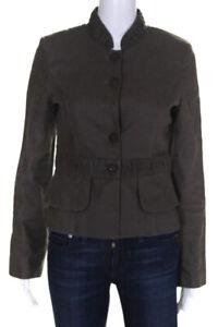 Cynthia-Cynthia-Steffe-Womens-Linen-Button-Down-Blazer-Jacket-Green-Size-4