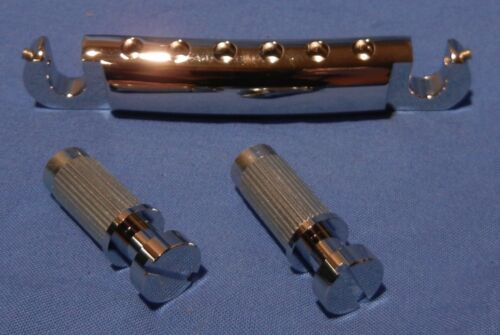 NEW CHROME TONEPROS GOTOH TAILPIECE WITH SCREWS FOR ELECTRIC GUITARS GIBSON