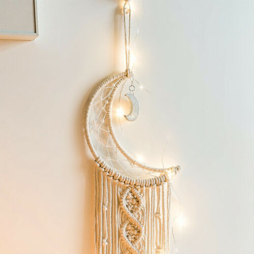 1PC Nordic Style Handmade Crescent Moon Wall Tapestry Hanging Ornament for Home