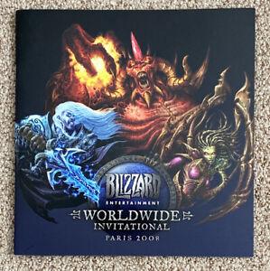 NEW-MINT-Blizzard-2008-Worldwide-Invitational-Paris-Program