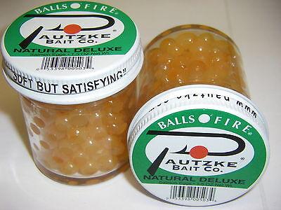 PAUTZKE/'S PAUTZKES BALL O FIRE SALMON EGGS TYEE 2 JARS RED FISHING BAIT