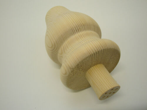 Large Tulip Foot// 83mm x 120mm// Wooden Furniture Feet With Spigot x 1