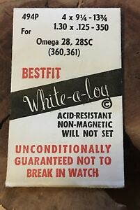 Vintage-Omega-watch-28-28SC-360-361-370-371-372-mainspring-Swiss-Bestfit-part
