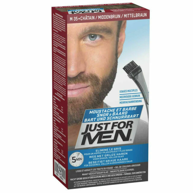 Stupendous Just For Men M35 Moustache And Beard Facial Hair Color Medium Natural Hairstyles Runnerswayorg