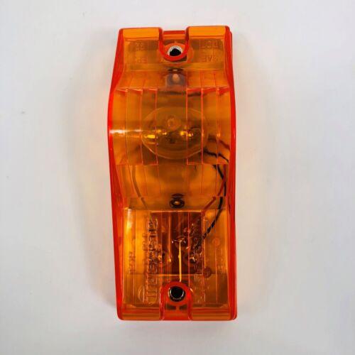 SIDE TURN SIGNAL 22202Y TRUCK-LITE INCANDESCENT 2 SCREW 1 BULB YELLOW