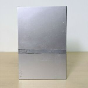 Sony-PlayStation-2-Silver-Slim-Console-System-Only-For-Parts-Repair-Salvage