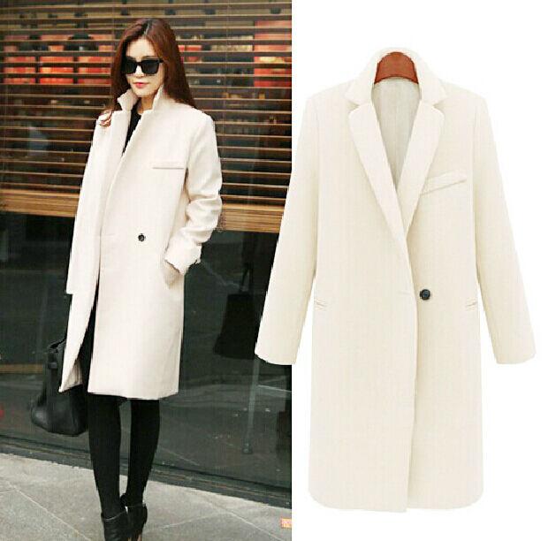 Women's Faux Wool Cashmere Long Winter Parka Trench Coat Outwear Fleece HOT New