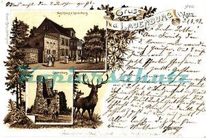 AK-Burg-Lauenburg-i-Harz-Litho-Burg-Gasthaus-Lauenburg-1898