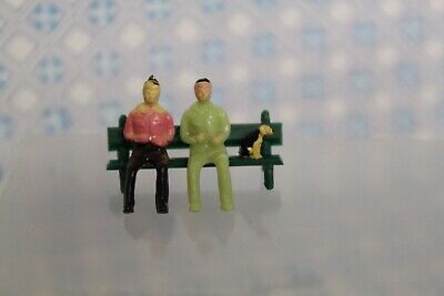 1:12 Scale Mouse Mice Hanging Out On A Bench Dolls House Miniature
