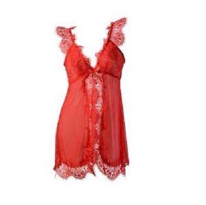 heiße Angebote professionelle Website exquisiter Stil Details zu SexyDamen Dessous Reizwäsche Transparent Babydoll Nachtwäsche  Rot Anzug Thong