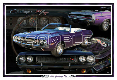 1970 Dodge Challenger RT Convertible Poster Print