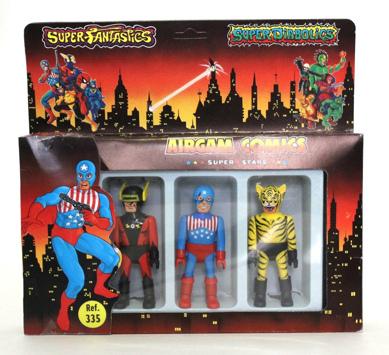 1985 Airgam Comics Super Stars CAPT. LASER, BAD TIGER & STARSMAN Airgamboys  1