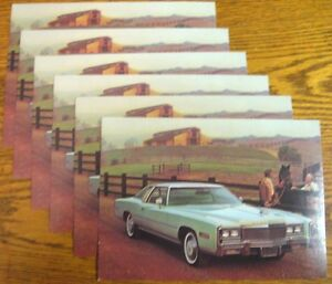 1977-Cadillac-Original-Post-Card-LOT-6-pcs-Eldorado-Cabriolet-Coupe-5-X-7-034