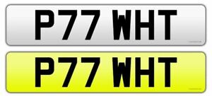 Cherished-Registration-Number-Private-Plate-White-Whittaker-P77WHT