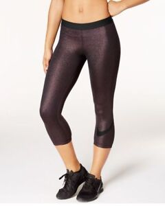 exquisite style look out for well known Details about NIKE PRO WOMEN SPARKLE GLITTER ROSE GOLD TRAINING CAPRIS  TIGHTS - 864957-011 - S